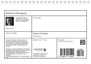Kamera in Bewegung (Tischkalender 2020 DIN A5 quer)