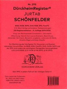 Schönfelder, Deutsche Gesetze, Griffregister Nr. 2115 (2019/174.