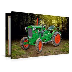Premium Textil-Leinwand 120 cm x 80 cm quer Oldtimer Traktor Deu