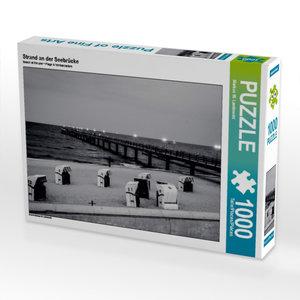 Strand an der Seebrücke 1000 Teile Puzzle quer