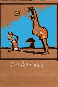 Premium Textil-Leinwand 50 cm x 75 cm hoch Basketball