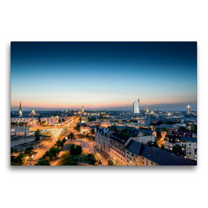 Premium Textil-Leinwand 75 cm x 50 cm quer Leipzig Du bist so gr