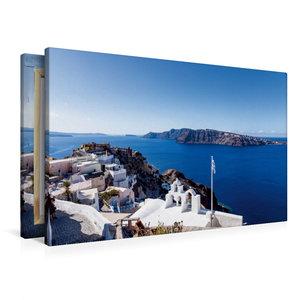 Premium Textil-Leinwand 90 cm x 60 cm quer Nordseite von Oia