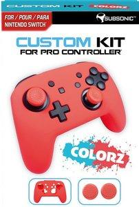 SUBSONIC Custom Kit for Pro Controller, 1 Skin (rot), 2 Thumb Gr