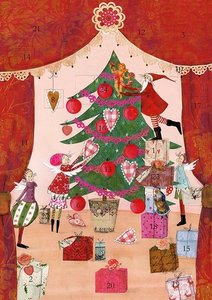 Adventskalender Weihnachtsvorhang
