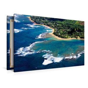 Premium Textil-Leinwand 120 cm x 80 cm quer Urlaubsgrüße aus dem