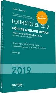 Tabelle, Lohnsteuer 2019 Höhere Sonstige Bezüge
