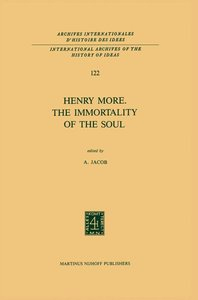 Henry More. The Immortality of the Soul