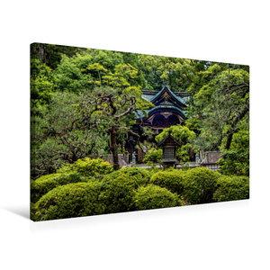 Premium Textil-Leinwand 75 cm x 50 cm quer Okazaki Tempel, Kyoto