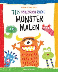 71 1/2 schrecklich schöne Monster malen. Lustige Ungeheuer Schri