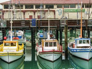 CALVENDO Puzzle Bootshafen an der Fishermen\'s Wharf 1000 Teile