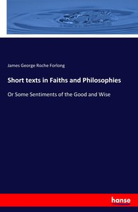 Short texts in Faiths and Philosophies