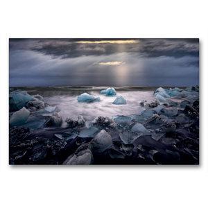 Premium Textil-Leinwand 90 cm x 60 cm quer Fragile World
