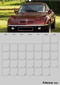 Opel GT Terminplaner (Wandkalender 2020 DIN A2 hoch)