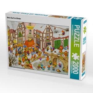Mein Dorf im Winter 2000 Teile Puzzle quer