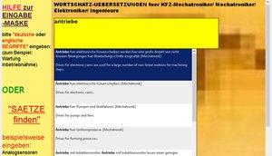 CD-ROM Wortschatz-Uebersetzungen (294.000 Fachbegriffe) fuer Kfz