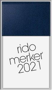 rido Tischkalender 2021 merker PVC dunkelblau