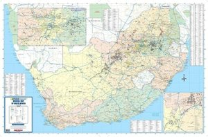 South Africa Mineral 2 Sheets Flat Map 1 : 1.500 000