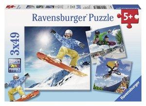 Action Sport. Puzzle 3 X 49 Teile
