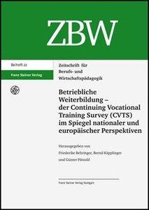 Betriebliche Weiterbildung - der Continuing Vocational Training