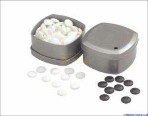 Philos 4301 - Go-Spielsteine aus Glas, Set s/w