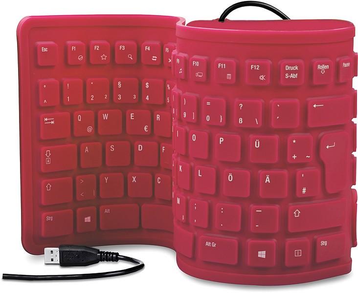 Speedlink RUGG Flexible Silikon Keyboard, Tastatur (geräuscharme - zum Schließen ins Bild klicken