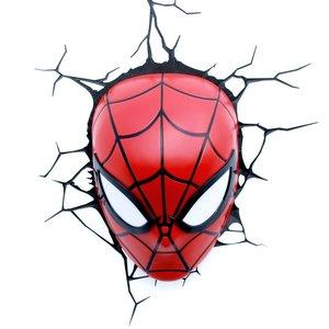 3D Deko Licht - Marvel - Spidermans Maske (inkl. Wandsticker)