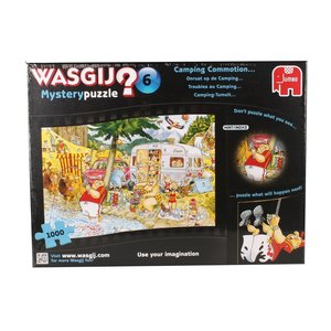 Jumbo 13498 - Wasgij Mystery 6 - Camping-Tumult - 1000 Teile