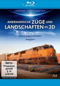 Amerikanische Züge und Landschaften in 3D