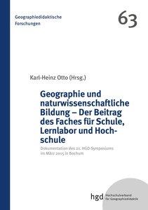 Geographie und naturwissenschaftliche Bildung - Der Beitrag des