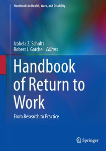 HANDBOOK OF RETURN TO WORK