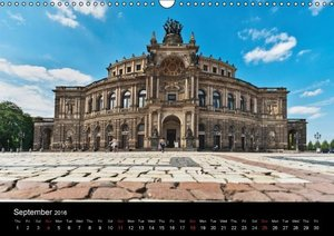 Dresden-Saxony-Germany-Europe / UK-Version (Wall Calendar 2016 D
