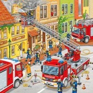 Feuerwehreinsatz. Puzzle (3 x 49 Teile)