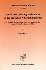 Liefer- und Leistungsbeziehungen in der deutschen Automobilindus