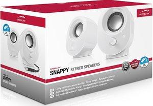 Speedlink SNAPPY Stereo Speakers, Lautsprecher, weiss