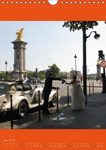 Paris et ses mariés (Calendrier mural 2015 DIN A4 vertical)