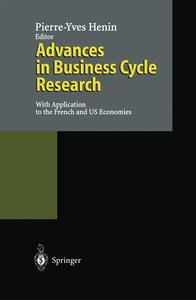 Advances in Business Cycle Research