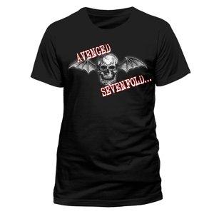 Bat Skull Glow (T-Shirt,Schwarz,Größe M)