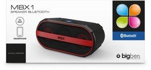 Bluetooth-Lautsprecher MBX1, schwarz-rot
