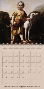 Old Paintings - Pets by great artists (Wall Calendar 2015 300 ×