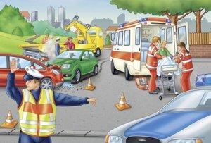 Schmidt Spiele 56112 - Die Polizei, Puzzle, 60 Teile