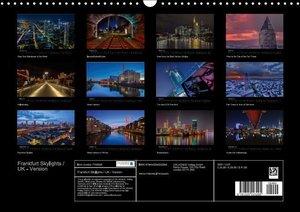 Frankfurt Skylights / UK-Version (Wall Calendar 2015 DIN A3 Land