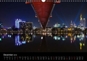 Frankfurt Skylights / UK-Version (Wall Calendar 2015 DIN A3 Land