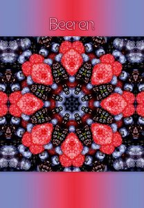 Premium Textil-Leinwand 30 cm x 45 cm hoch Beeren Mandala
