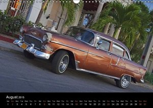 On the road in Cuba (UK-Version) (Wall Calendar 2015 DIN A3 Land