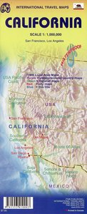 California Travel Reference Map 1 : 1 000 000
