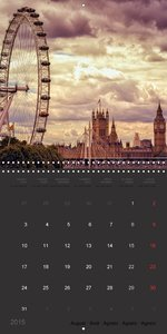 The Metropolis London (Wall Calendar 2015 300 × 300 mm Square)