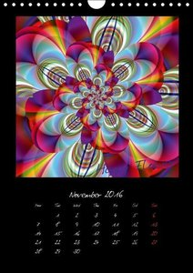 Digital Flowers/UK Version (Wall Calendar 2016 DIN A4 Portrait)