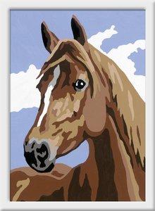 Stolzes Pferd. Malen nach Zahlen Serie E