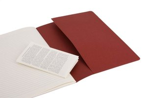 Moleskine Cahier Pocket Ruled Red Cover XL. 3er Pack